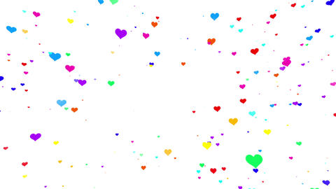 Sparkle Heart Particles W MA 1 HD Stock Video Footage