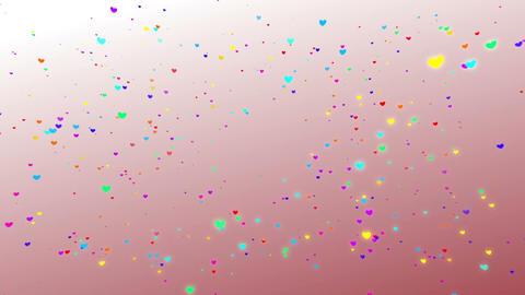 Sparkle Heart Particles W SA 1 HD CG動画