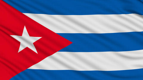 Cuban Flag, With Real Structure Of A Fabric stock footage