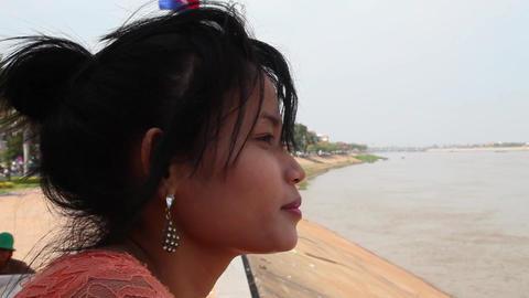 Girl. Cambodia Footage