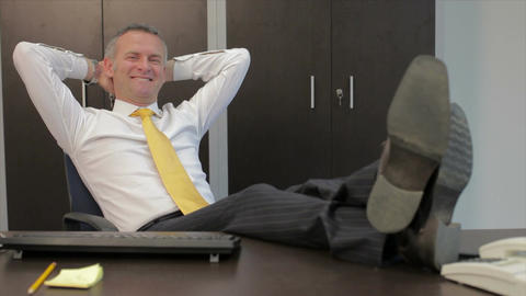 Relaxed Businessman stock footage