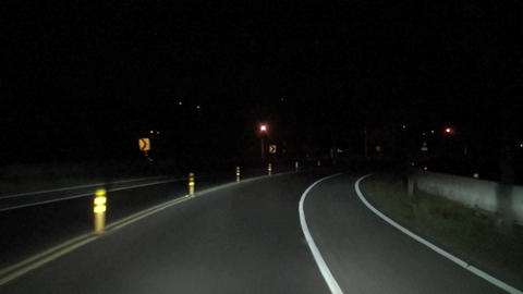 driving on the country at night Footage
