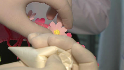 Cook Hands Making Sweets 1 stock footage