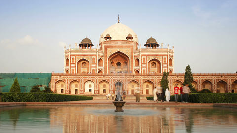 India, Delhi, Humayun's Tomb Was Built In The Mid  stock footage