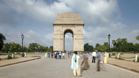 India, Delhi, New Delhi, India Gate, the 42 metre  Footage