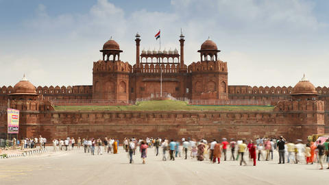 The Lahore Gate, the red sandstone main gate to th Live Action