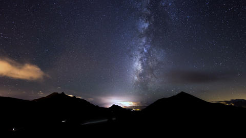 clouds and milky way time lapse 11318 Footage
