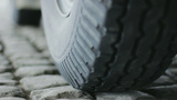 Automobile Tire On Pavement stock footage