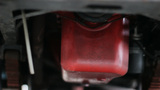 Red Petrol Tank Of Old-Timer Van stock footage