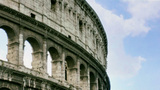 Side Angle Of The Rome Colosseum In Italy stock footage