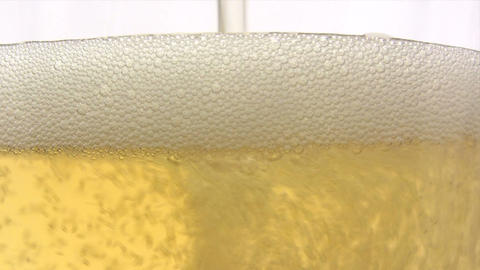 Pouring Beer - Close-Up Footage