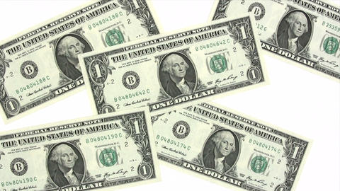 Dollar Background stock footage