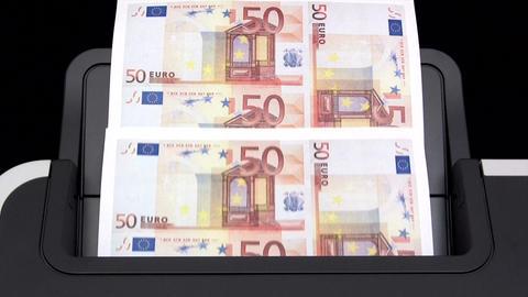 Printing Euro Banknotes Footage