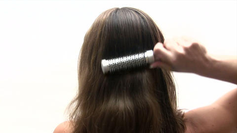 Woman Combing Her Hair stock footage