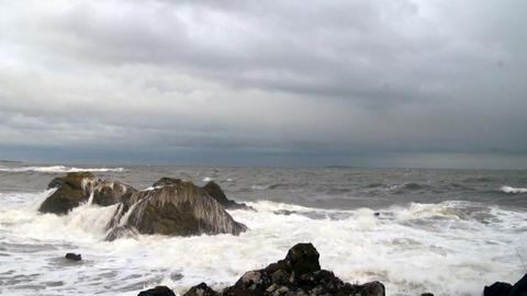 Stormy Sea Reverse Footage