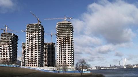 construction skyscrapers Footage