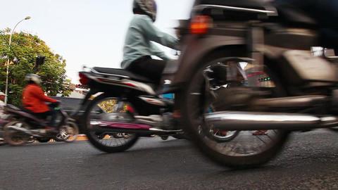 Bikers closeup Footage