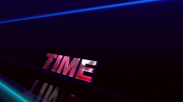 Speed, Time, Success. 3 D words in motion Animation