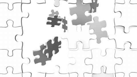 White Puzzle stock footage