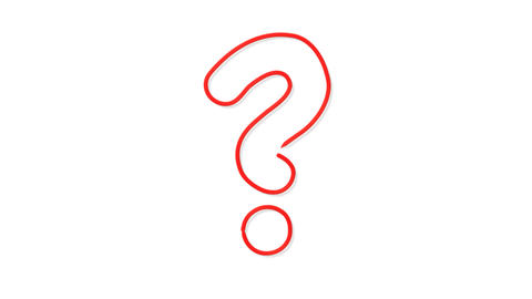Red Question Mark Outline Animation