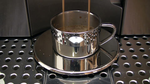 Preparing Espresso stock footage