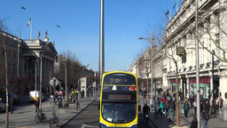 Dublin City Traffic 3 stock footage