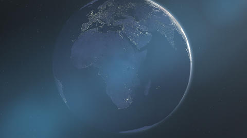 Night Lights of Africa & Europe (24fps) Animation