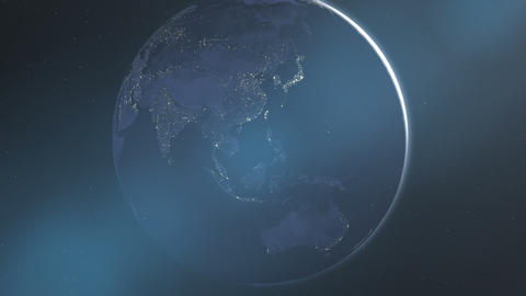 Night Lights of Asia & Australia (24fps) Animation
