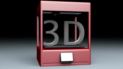 3D Printer 1 stock footage