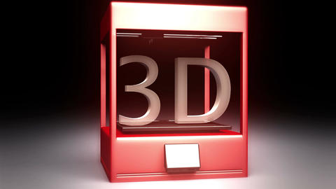 4K 3D Printer 3 Animation