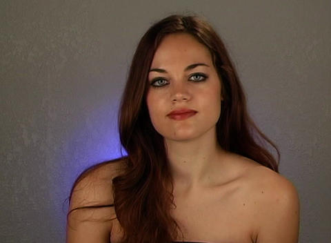 """Beautiful Brunette Shakes Her Head """"No"""" (3) Stock Video Footage"""