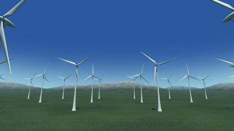 Wind Turbine Gb HD Animation