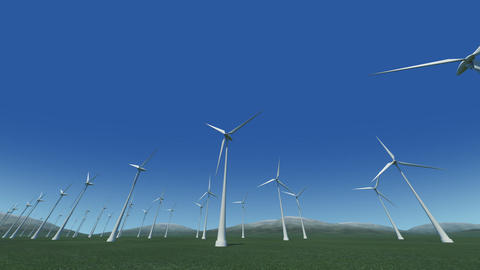 Wind Turbine Gd HD Animation