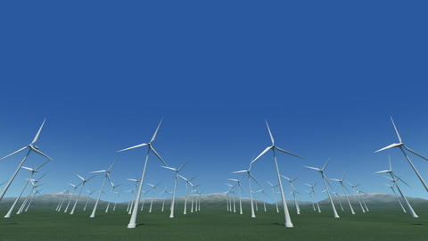 Wind Turbine Gf HD Animation