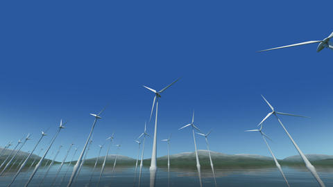Wind Turbine Sd HD Animation