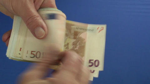 Money Series: Count Money Blue stock footage