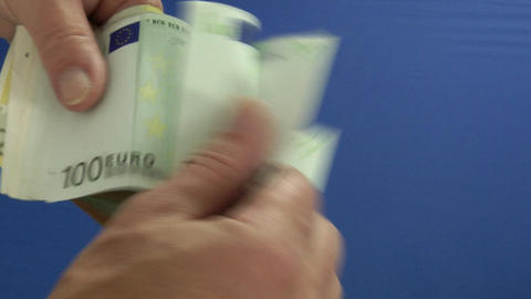 Money series: count money blue Stock Video Footage
