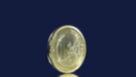 Money series: dollar fall euro focus Stock Video Footage