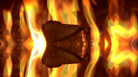 abstract fire BG02 Stock Video Footage