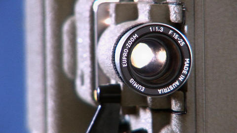 Projector Dolly Close P5 stock footage