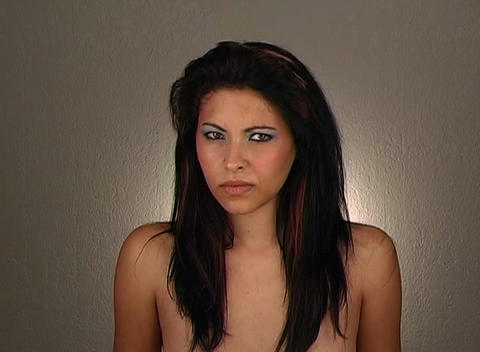 Beautiful Young Angry Woman Stock Video Footage