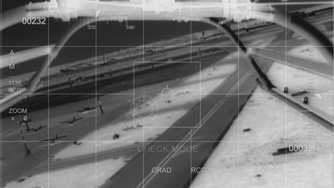 infrared War Helicopter system check Stock Video Footage