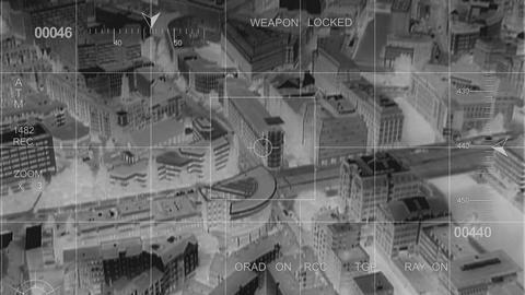 infrared big city observation Stock Video Footage