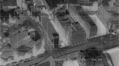 infrared big city observation Footage