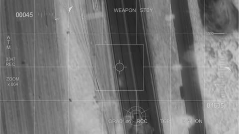 infrared War helicopter car hit Footage