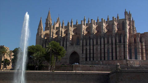Cathedral de Mallorca - La Seu Stock Video Footage