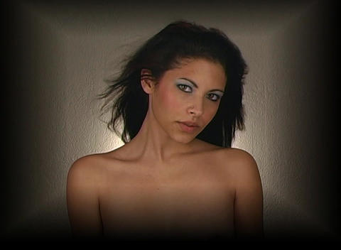 Beautiful Young Woman, Headshot 4 Stock Video Footage
