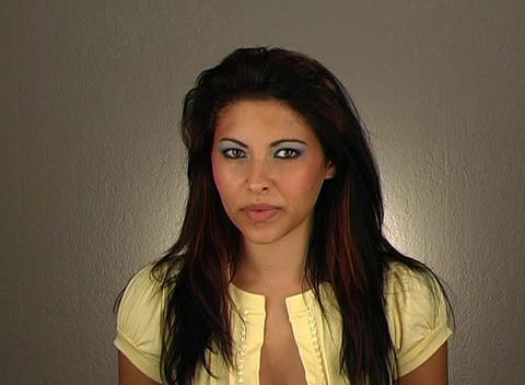 """Beautiful Young Woman Shakes her Head """"No"""" (2) Stock Video Footage"""