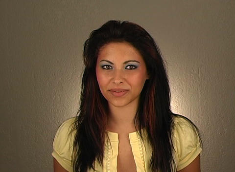 """Beautiful Young Woman Shakes her Head """"Yes"""" (1) Stock Video Footage"""