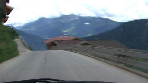 time lapse highspeed downhill drive alps Footage